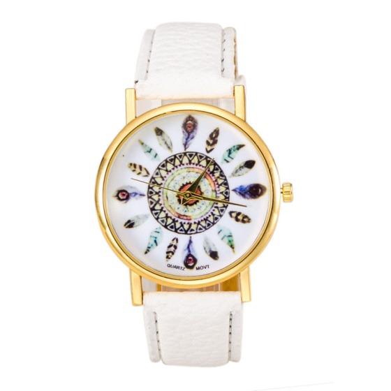 reloj-cuero-pluma-blanca